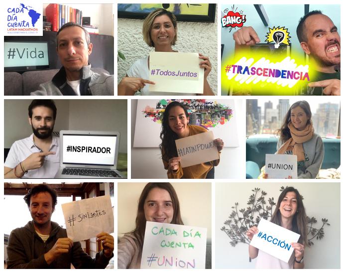 Organizers of the hackathon #CadaDiaCuenta