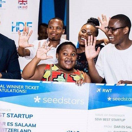 The Nala team (with founder Benjamin Fernandes far right) pictured at Seedstars Dar es Salaam (Image via Ventureburn)
