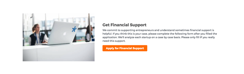 Investment Readiness Program Financial Support