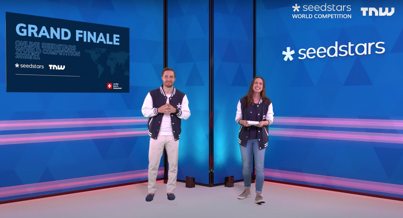 Seedstars Co-Founders and Co-CEOs Alisée de Tonnac and Pierre-Alain Masson host the online event.png
