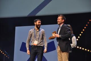 Tag Heuer awarding a startup at Seedstars Summit 2018